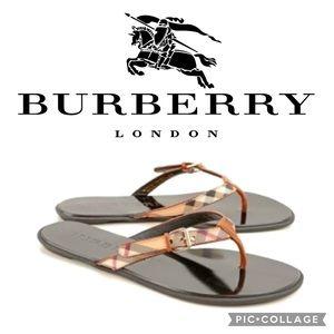 """Burberry """"Parsons"""" Novacheck Flip Flop Sandals 🤩"""